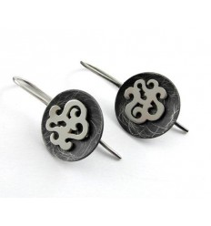 Earrings silver J 1787