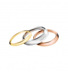 Set 3 rings Calvin Klein Groovy in stainless steel KJ8QDR3001
