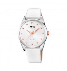 Lotus Trendy watch Woman White 35mm leather strap 18642/1