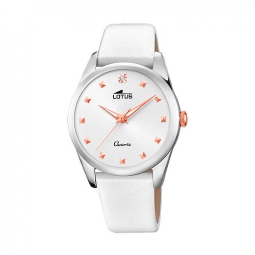 Lotus Trendy watch Woman White 35 mm leather strap 18642/1
