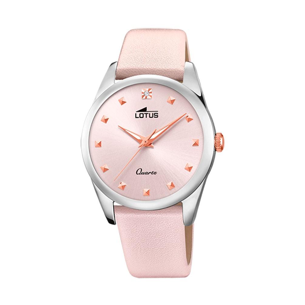 c9d599595b39 Reloj Lotus Trendy Mujer Rosa pastel 35 mm correa de piel 18642 2