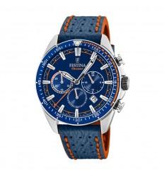 Reloj Festina Cronógrafo Hombre Esfera azul correa cuero azul F20377 2 86bf5f87ea9a