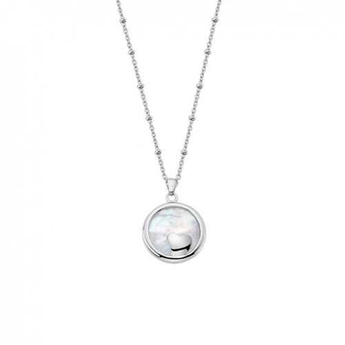 Lotus Style Heart Women Necklace in stainless steel LS1858-1/1