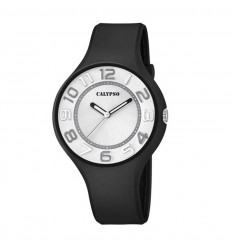 Calypso Sweet Time watch in black color white dial KTV5591 F c03e8c19214