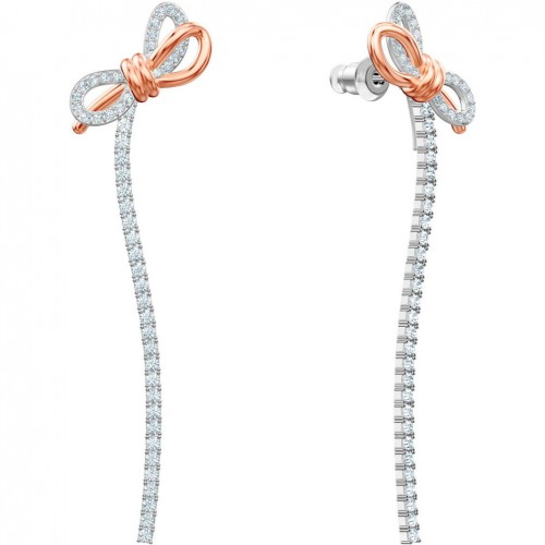 Swarovski Lifelong Bow earrings White Mixed plating 5447083