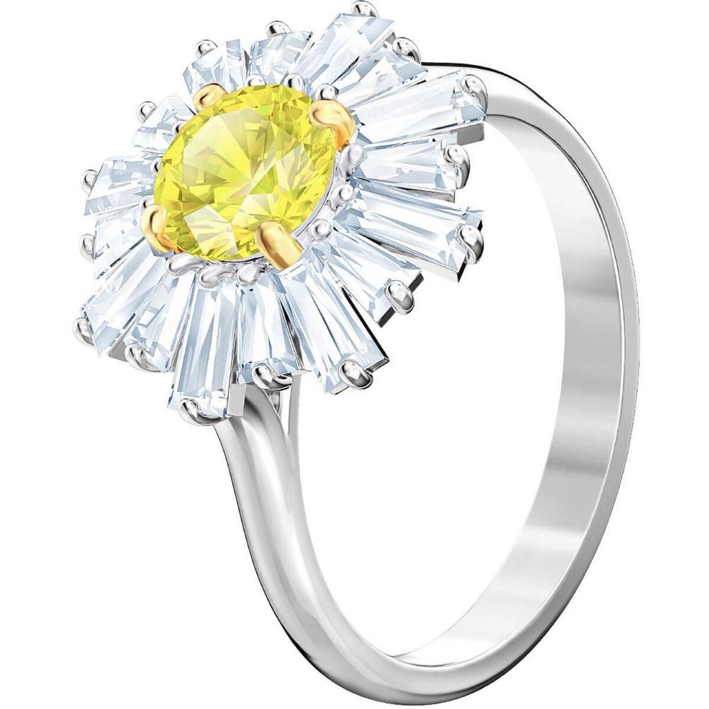 1f03299c7b161 Swarovski Sunshine ring Yellow Rhodium plating 5472481 5482709