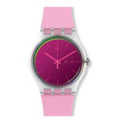 Swatch New Gent POLAROSE watch pink color SUOK710