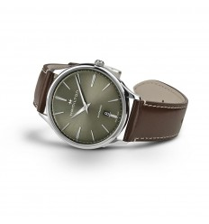 Hamilton Thinline Reloj Jazzmaster Verde Esfera H38525561 Automático j4LAR35
