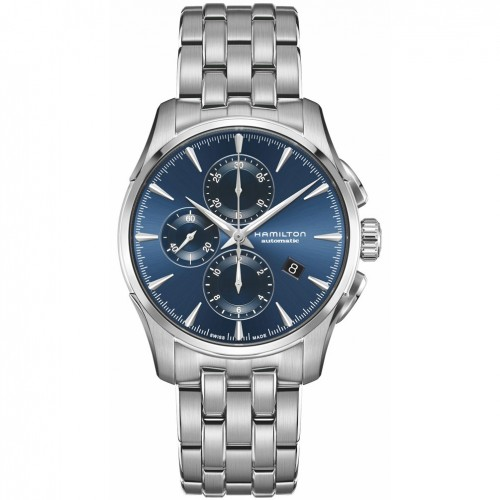 Hamilton Jazzmaster watch Auto Chrono Blue Steel bracelet H32586141