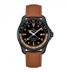 Certina DS Action GMT Powermatic 80 Black brown strap C0324293605100