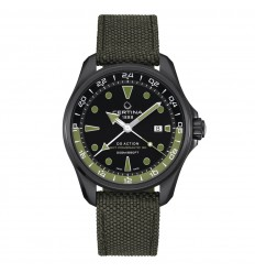 Certina DS Action GMT Powermatic 80 Black green strap C032.429.38.051.00