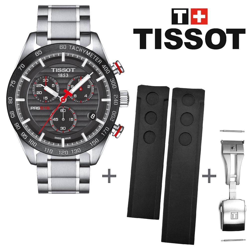 62cc0e41ac4 Bundle Offer Tissot watch PRS 516 chrono T1004171105101 + rubber strap