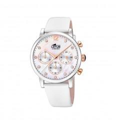 6f7f609e5907 Reloj Lotus Trendy Mujer esfera madreperla correa piel blanca 18674 1