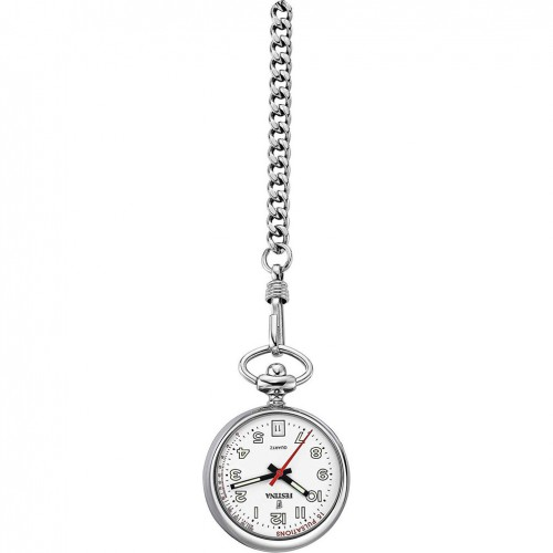 Nurse Pocket Watch FESTINA steel white dial F2027/2
