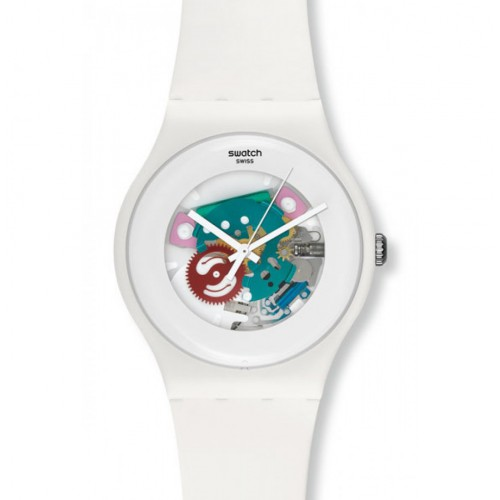Swatch New Gent watch White Lacquered SUOW100