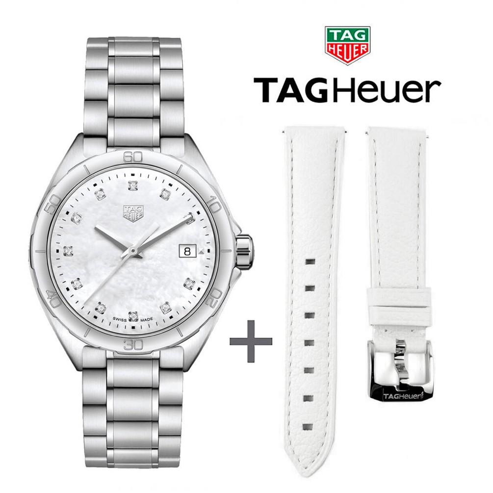 Bundle Offer Tag Heuer Formula 1 Wbj1319 Ba0666 White Leather Strap