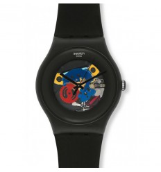 Swatch New Gent Black Lacquered SUOB101