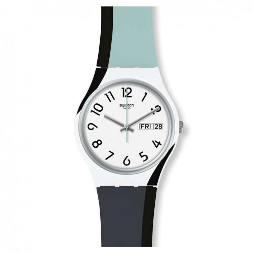 Swatch watch Original Gent GREYTWIST GW711 grey white black color