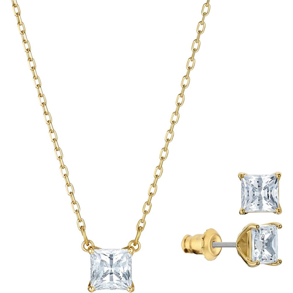 ebbf5198 Conjunto Swarovski Attract cristales blancos baño de oro 5510683