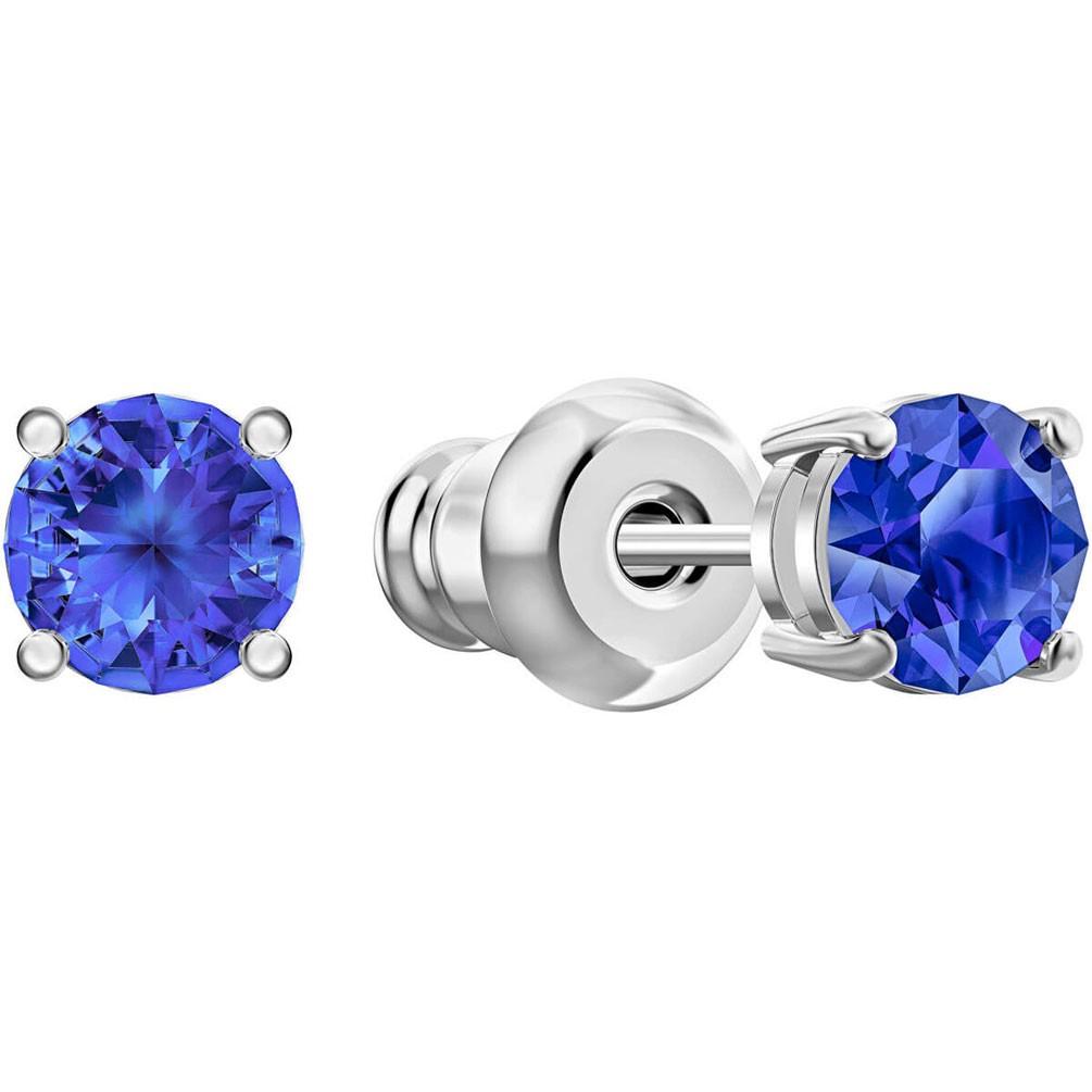 riñones Aproximación Fragante  Arracades botó Swarovski Attract cristalls blaus bany rodi 5512385