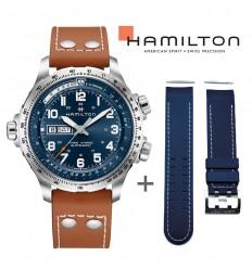 Bundle Offer Hamilton Khaki X-Wind watch H77765541+ blue rubber strap