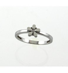 White communion gold ring flower 79333-A