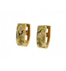 Earrings communion golden yellow star 78955