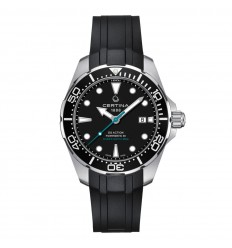 Certina DS Action Diver 60th Anniversary Powermatic 80 watch black dial rubber strap C0324071705160