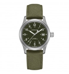 Hamilton Khaki Field Mechanical watch Green dial textile strap H69439363