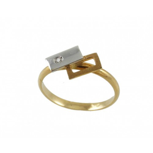 Communion gold ring yellow and gold white 227BR COB AN