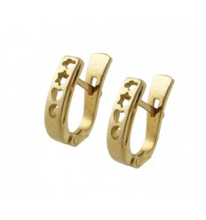 Communion gold earrings yellow estrella-corazon - Moon 7912