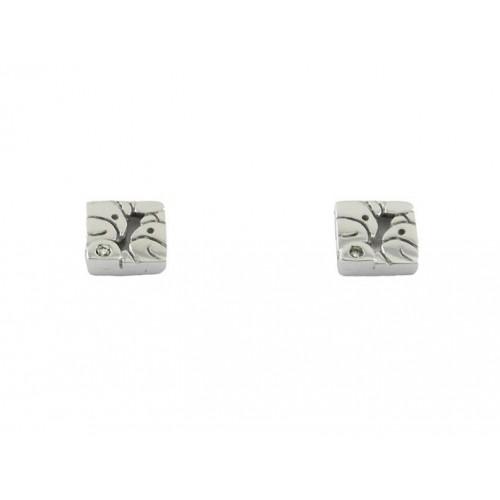 Communion gold earrings white bears 78828