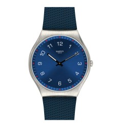 Swatch Irony SKINNAVY watch blue dial blue rubber strap SS07S102
