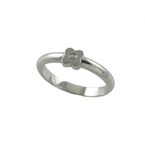 White communion gold ring flowers 78380-AK
