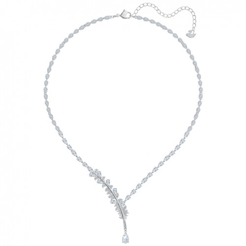 Nice Swarovski necklace white crystals rhodium plating 5493401