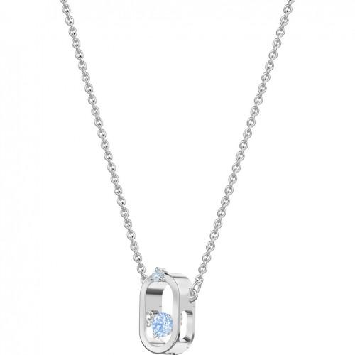 Swarovski Sparkling Dance Necklace Blue Rhodium plating 5479118