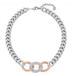 Swarovski Bound Necklace White crystals Steel Rose gold 5080040