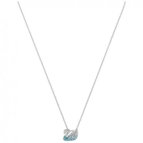 Iconic Swan Swarovski pendant multi-colored rhodium plating 5512094