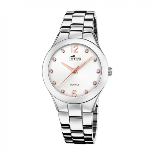 Lotus Trendy Women's watch White dial Rose gold and zircons 18741/1