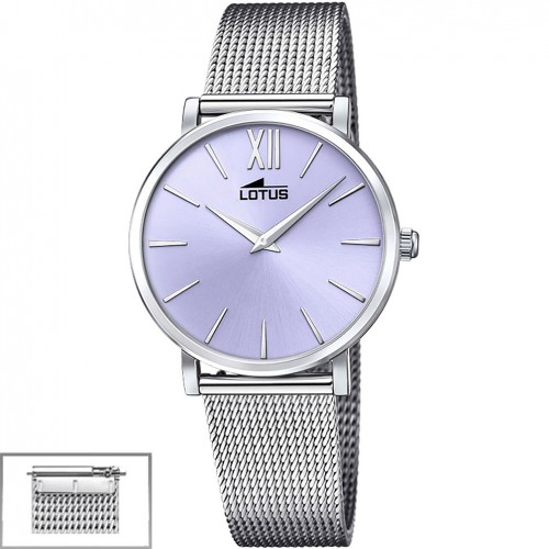 Lotus Trendy Women's watch Purple dial Steel and leather strap 18731/3